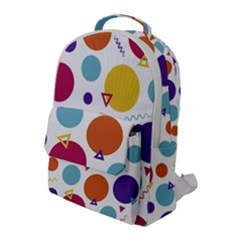 Background Polka Dot Flap Pocket Backpack (Large)