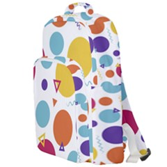 Background Polka Dot Double Compartment Backpack
