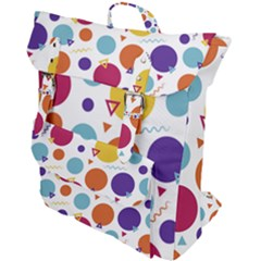 Background Polka Dot Buckle Up Backpack