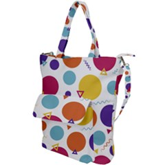 Background Polka Dot Shoulder Tote Bag