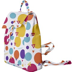 Background Polka Dot Buckle Everyday Backpack