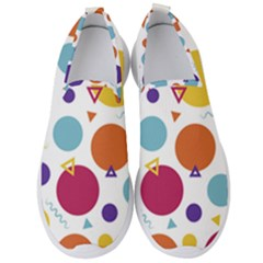 Background Polka Dot Men s Slip On Sneakers