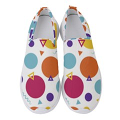 Background Polka Dot Women s Slip On Sneakers