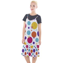 Background Polka Dot Camis Fishtail Dress