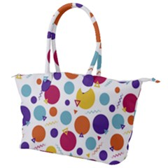 Background Polka Dot Canvas Shoulder Bag