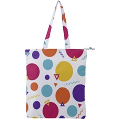 Background Polka Dot Double Zip Up Tote Bag