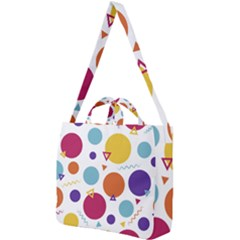 Background Polka Dot Square Shoulder Tote Bag