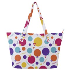 Background Polka Dot Full Print Shoulder Bag