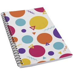 Background Polka Dot 5.5  x 8.5  Notebook