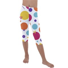 Background Polka Dot Kids  Lightweight Velour Capri Leggings