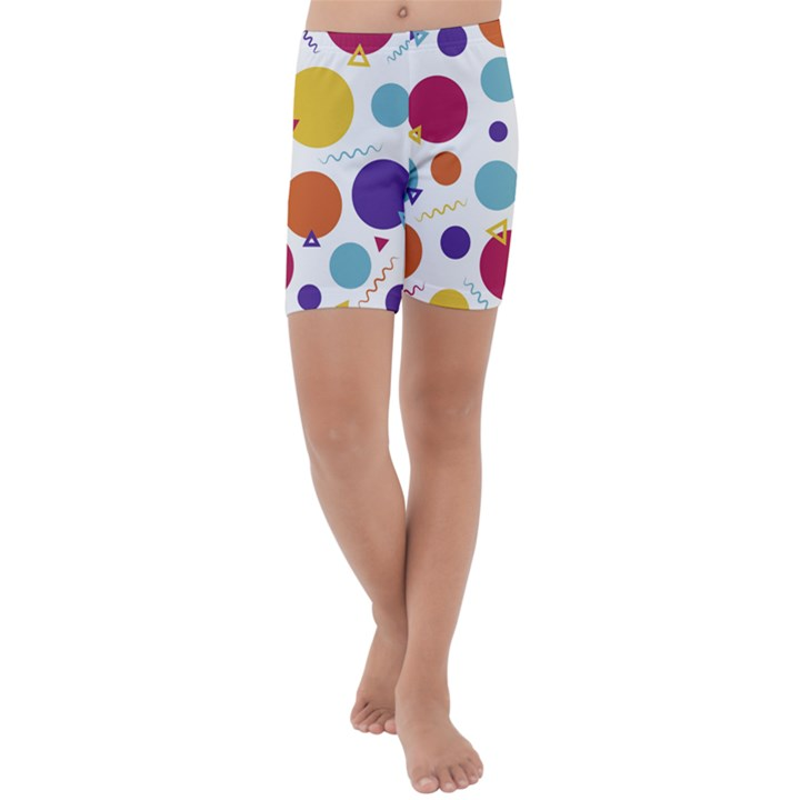 Background Polka Dot Kids  Lightweight Velour Capri Yoga Leggings