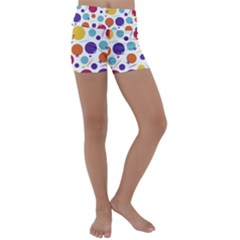 Background Polka Dot Kids  Lightweight Velour Yoga Shorts