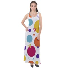 Background Polka Dot Sleeveless Velour Maxi Dress