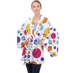 Background Polka Dot Velvet Kimono Robe