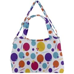 Background Polka Dot Double Compartment Shoulder Bag