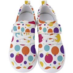 Background Polka Dot Men s Velcro Strap Shoes