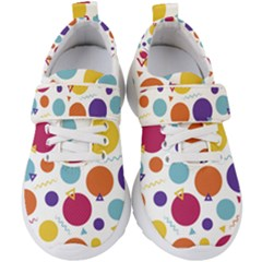 Background Polka Dot Kids  Velcro Strap Shoes