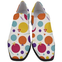 Background Polka Dot Slip On Heel Loafers