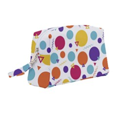 Background Polka Dot Wristlet Pouch Bag (Medium)