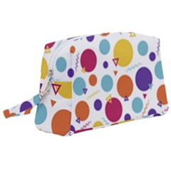 Background Polka Dot Wristlet Pouch Bag (Large)