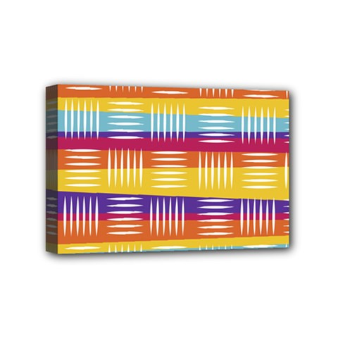 Background Line Rainbow Mini Canvas 6  x 4  (Stretched)
