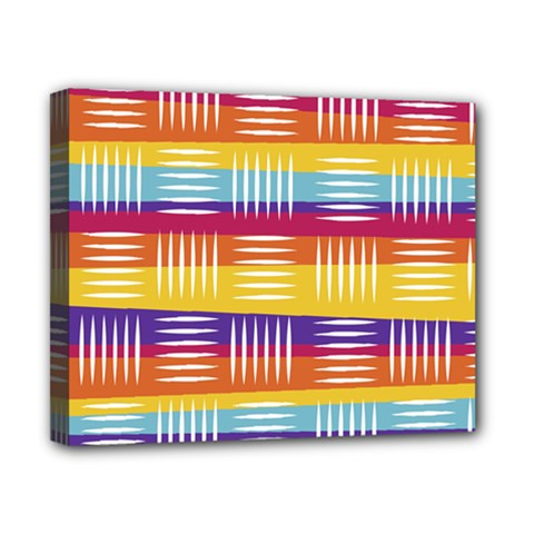 Background Line Rainbow Canvas 10  x 8  (Stretched)