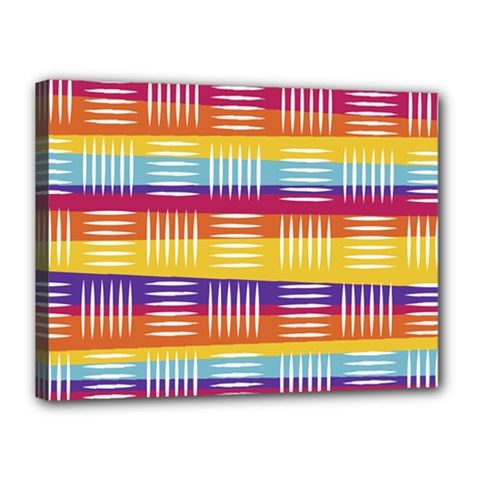 Background Line Rainbow Canvas 16  x 12  (Stretched)