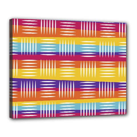Background Line Rainbow Canvas 20  x 16  (Stretched)