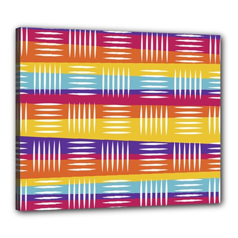 Background Line Rainbow Canvas 24  x 20  (Stretched)