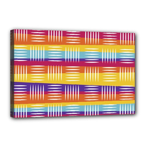 Background Line Rainbow Canvas 18  x 12  (Stretched)