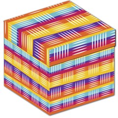 Background Line Rainbow Storage Stool 12