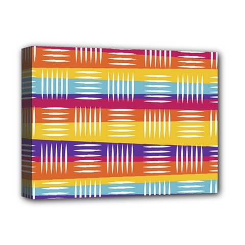 Background Line Rainbow Deluxe Canvas 16  x 12  (Stretched)
