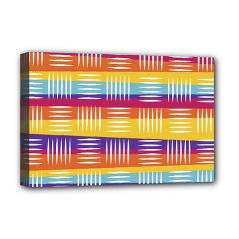 Background Line Rainbow Deluxe Canvas 18  x 12  (Stretched)