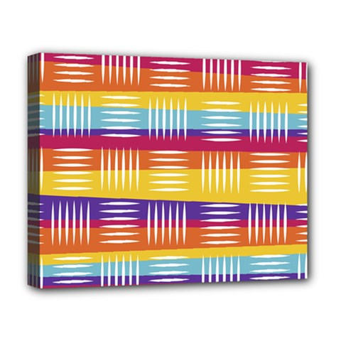 Background Line Rainbow Deluxe Canvas 20  x 16  (Stretched)
