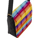 Background Line Rainbow Flap Closure Messenger Bag (L) View2