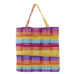 Background Line Rainbow Grocery Tote Bag