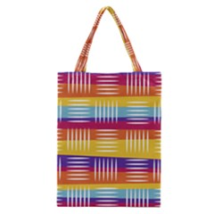 Background Line Rainbow Classic Tote Bag