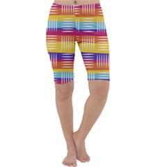 Background Line Rainbow Cropped Leggings