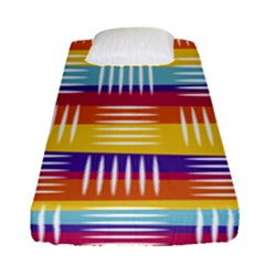 Background Line Rainbow Fitted Sheet (Single Size)