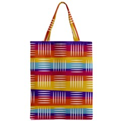 Background Line Rainbow Zipper Classic Tote Bag