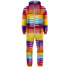 Background Line Rainbow Hooded Jumpsuit (men)  by HermanTelo