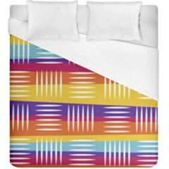 Background Line Rainbow Duvet Cover (King Size)