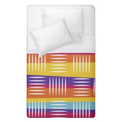 Background Line Rainbow Duvet Cover (Single Size)