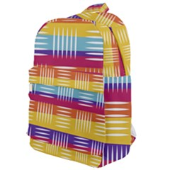 Background Line Rainbow Classic Backpack