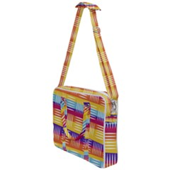 Background Line Rainbow Cross Body Office Bag