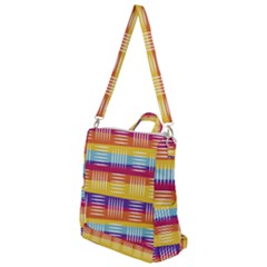 Background Line Rainbow Crossbody Backpack