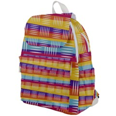 Background Line Rainbow Top Flap Backpack