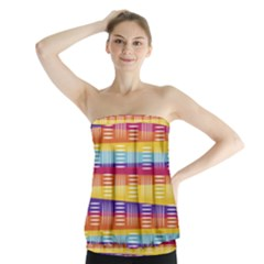 Background Line Rainbow Strapless Top by HermanTelo