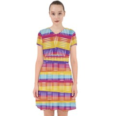 Background Line Rainbow Adorable in Chiffon Dress