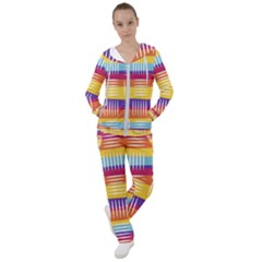 Background Line Rainbow Women s Tracksuit
